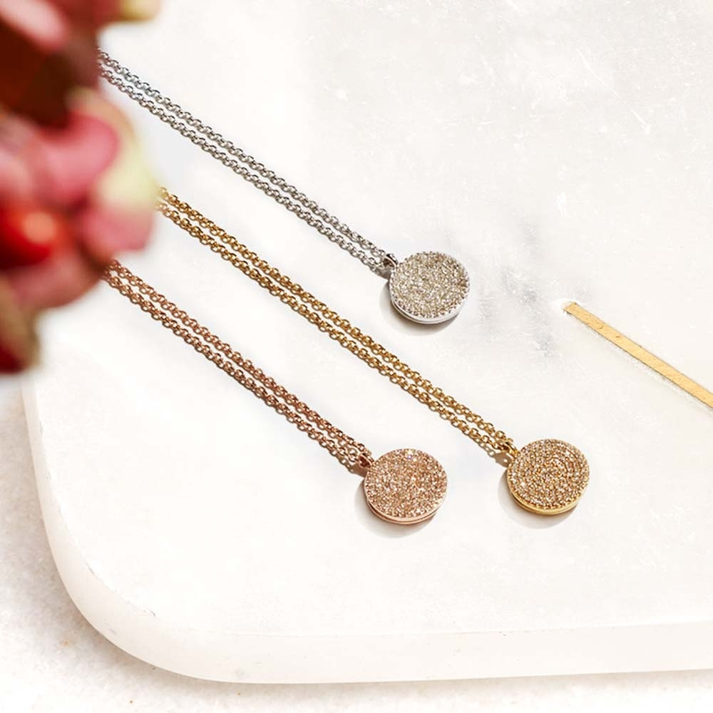 Icon Diamond Rose Gold Locket Necklace