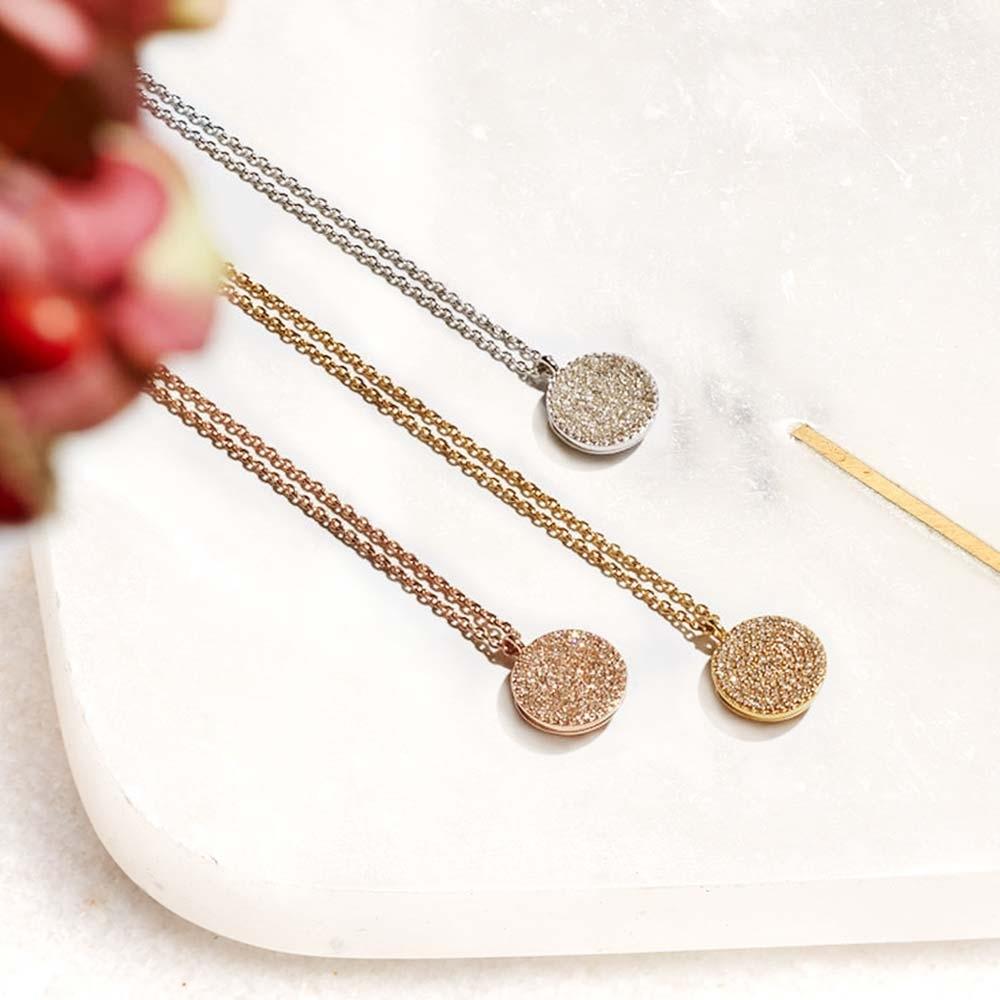 Icon Diamond White Gold Locket Necklace