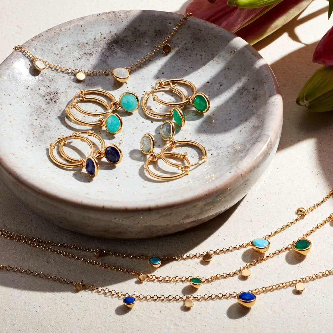 Stilla Droplet Turquoise Pendant Necklace