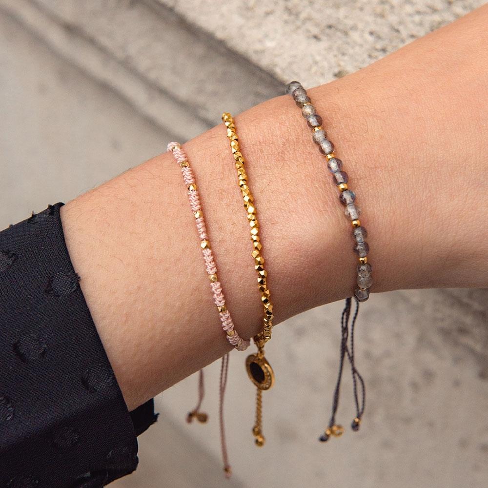 Love & Labradorite Bracelet Stack