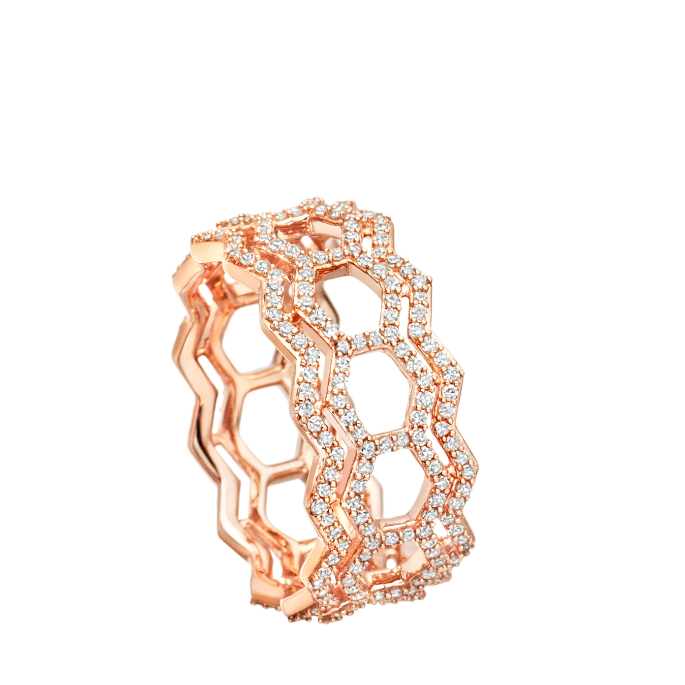 Double Varro Honeycomb Ring