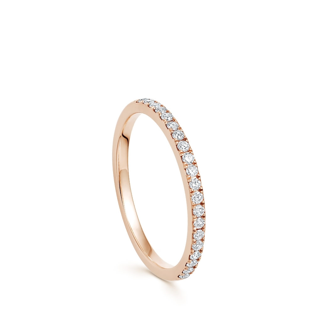 Rose Gold Half Eternity Diamond Ring