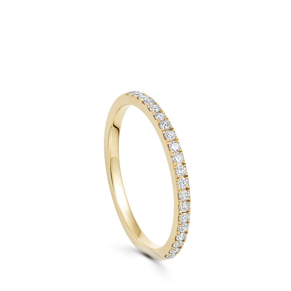 Gold Half Eternity Diamond Ring
