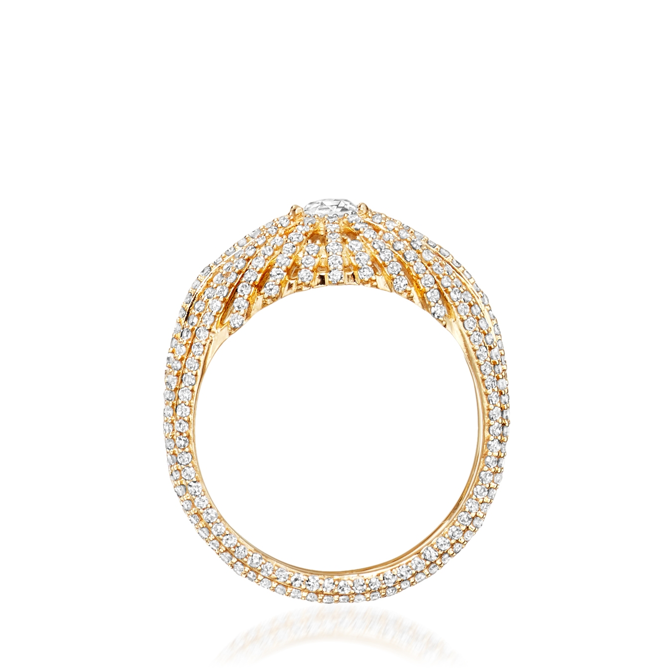 Rising Sun Centre Diamond Ring