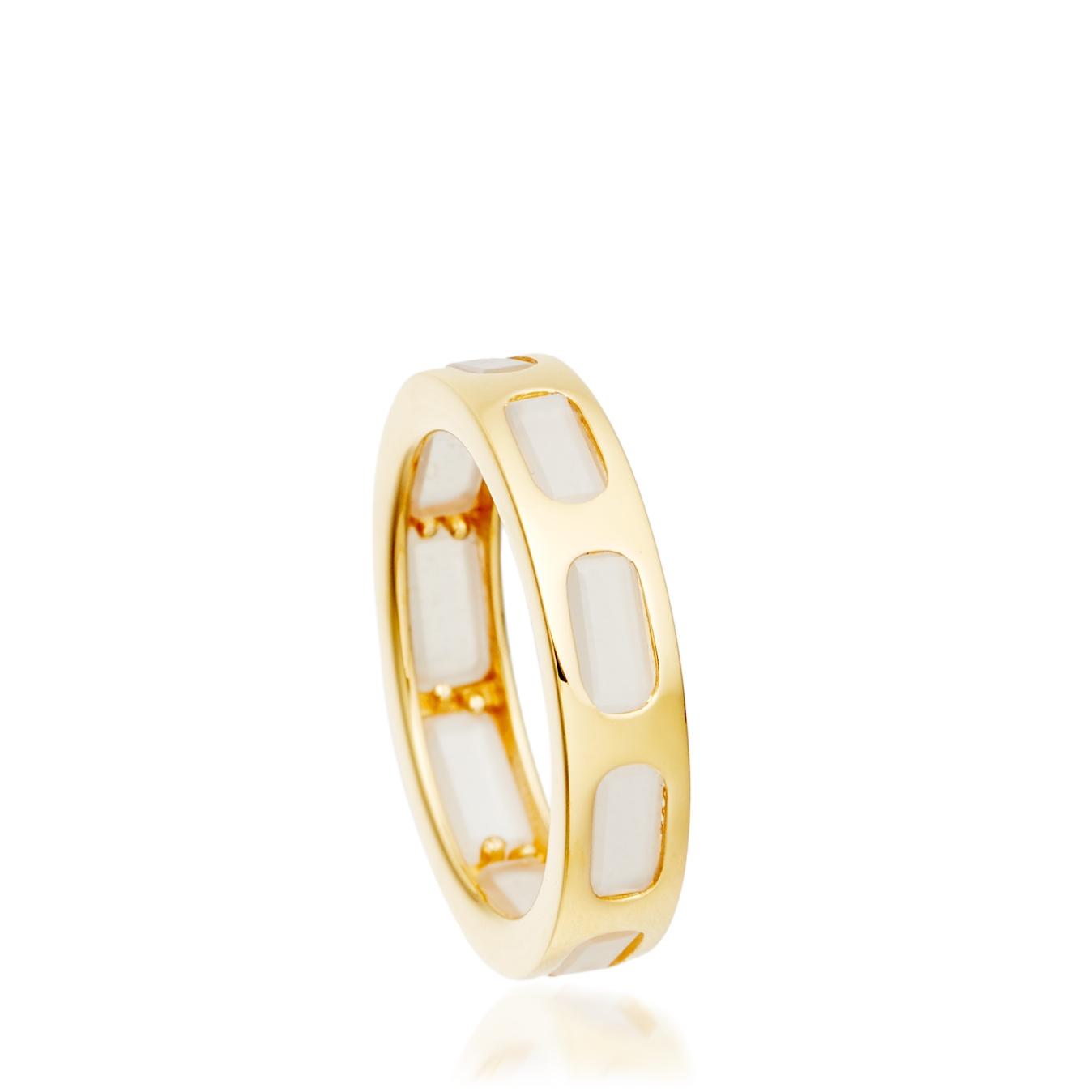 Moonstone Prismic Slice Ring
