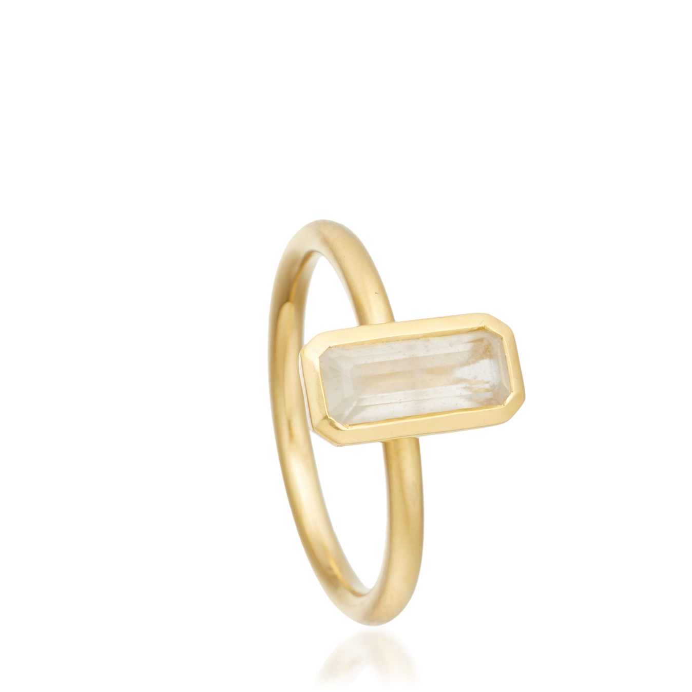 Moonstone Prismic Ring