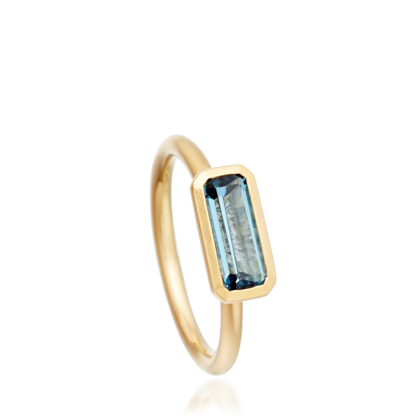 London Blue Topaz Prismic Ring