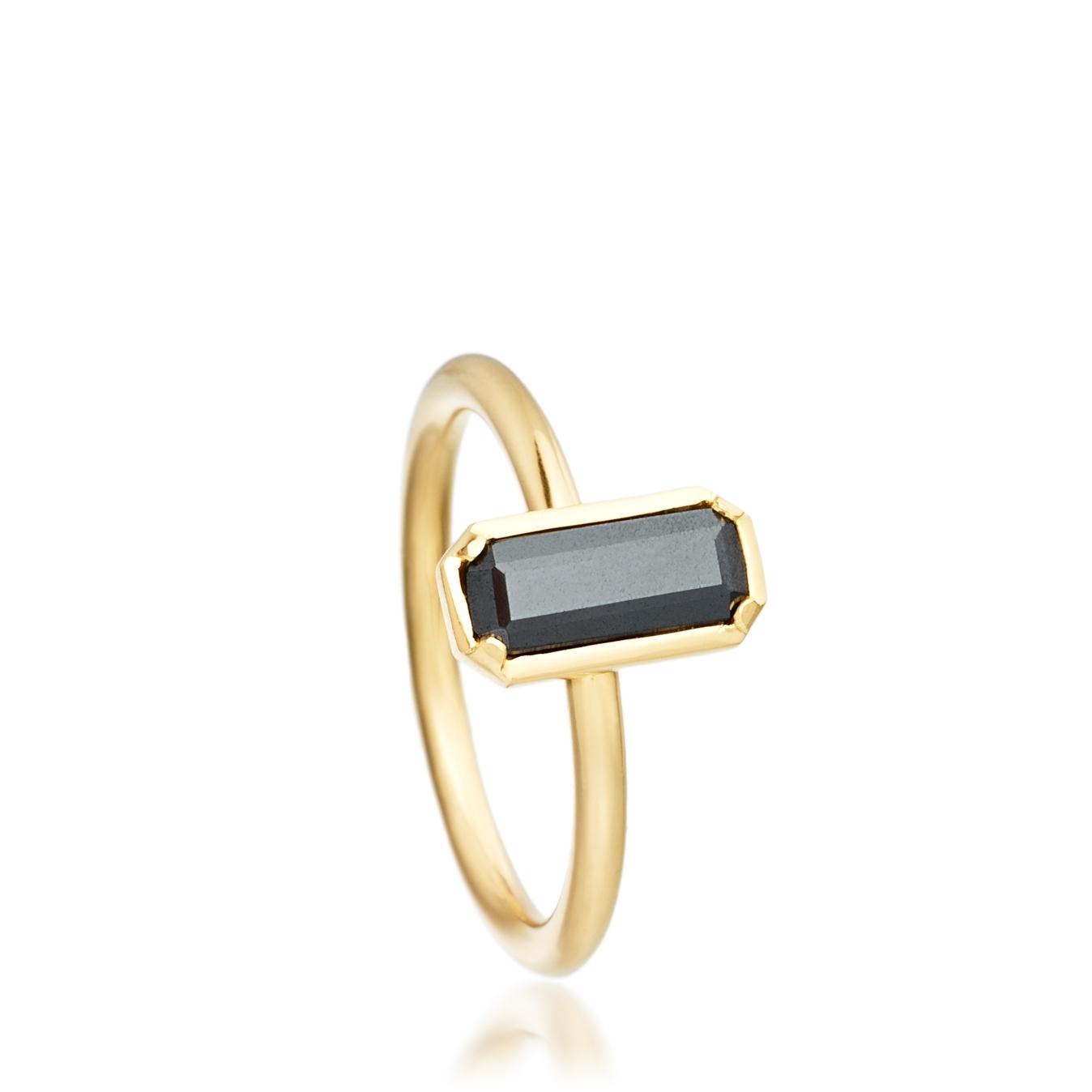 Hematite Prismic Ring