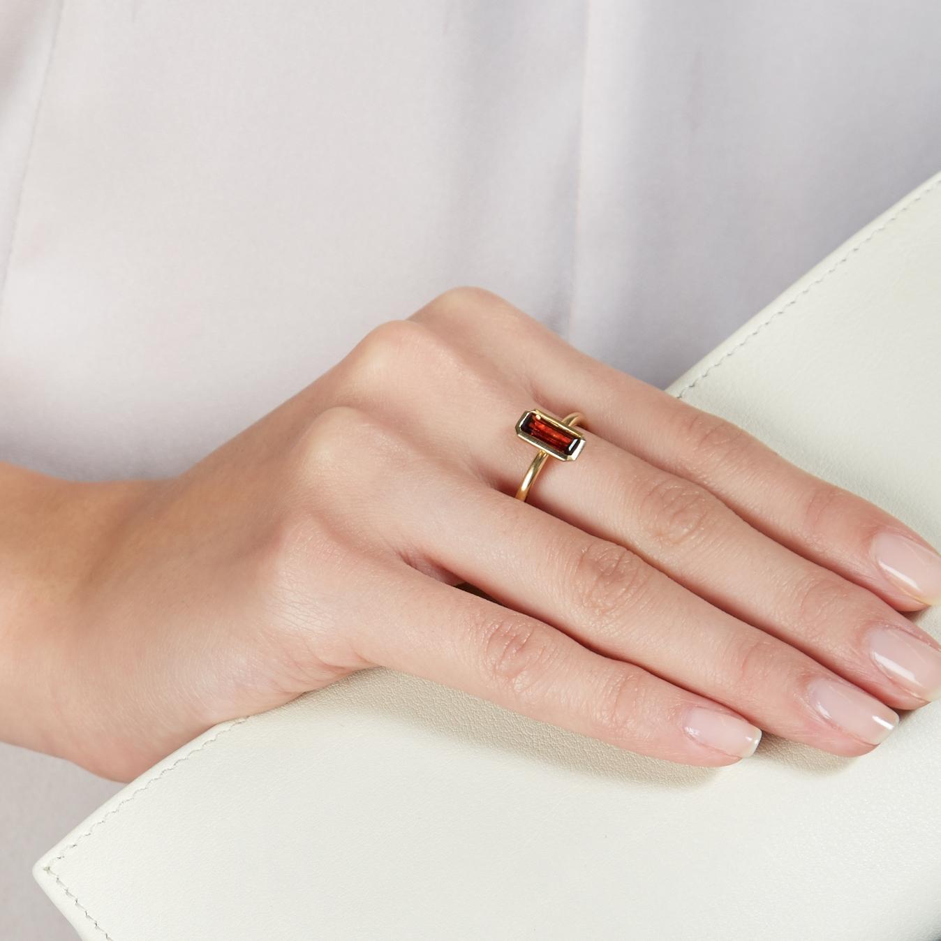 Garnet Prismic Ring