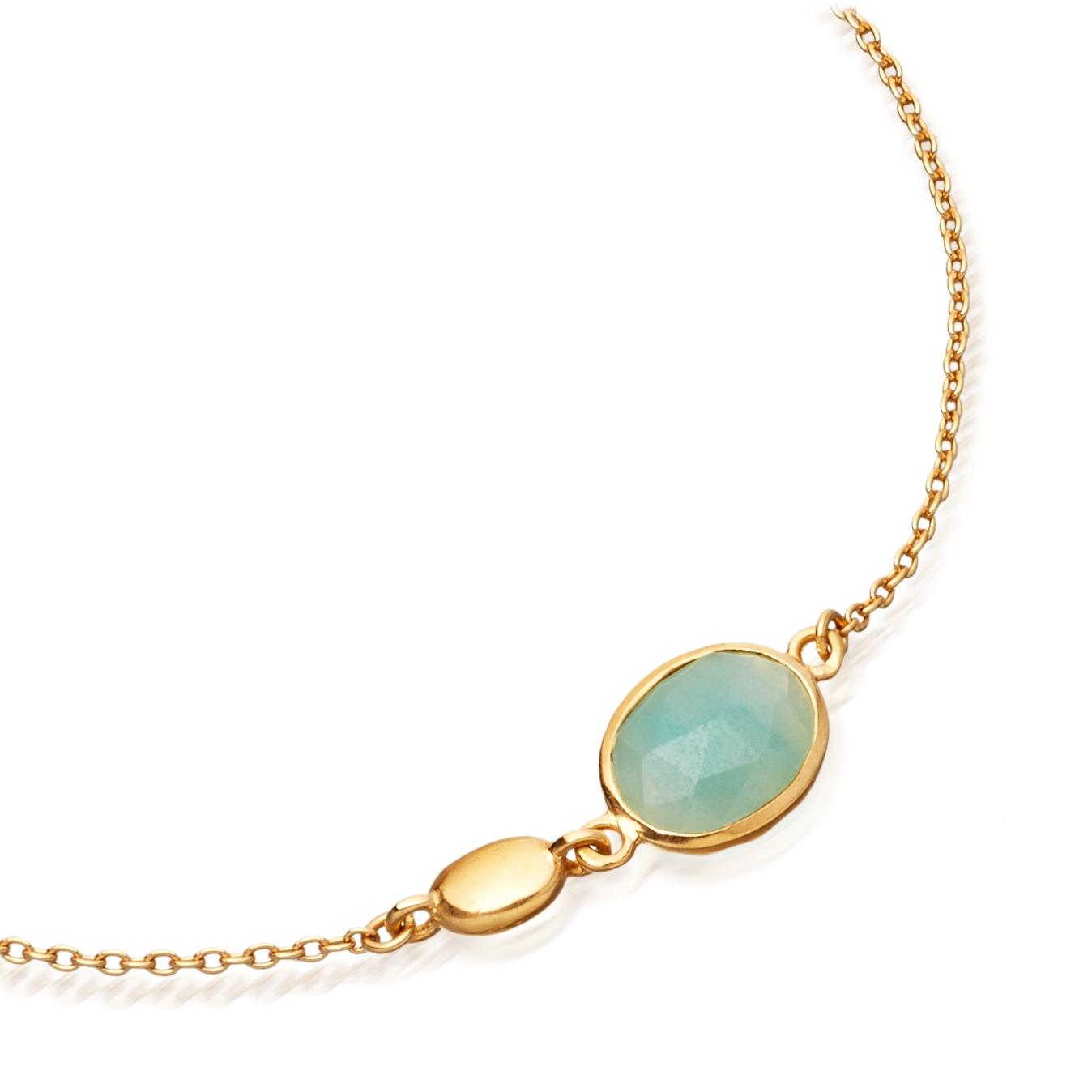 Milky Aqua Oval Stilla Bracelet