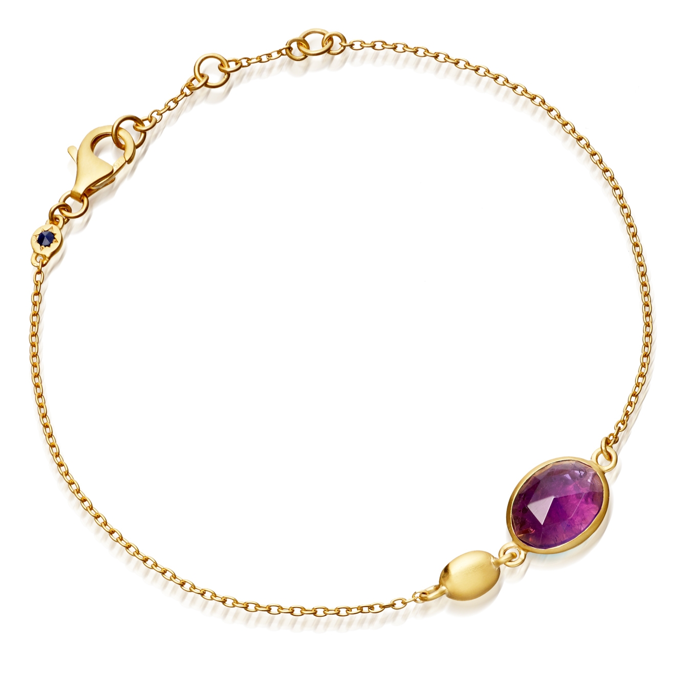 Amethyst Oval Stilla Bracelet