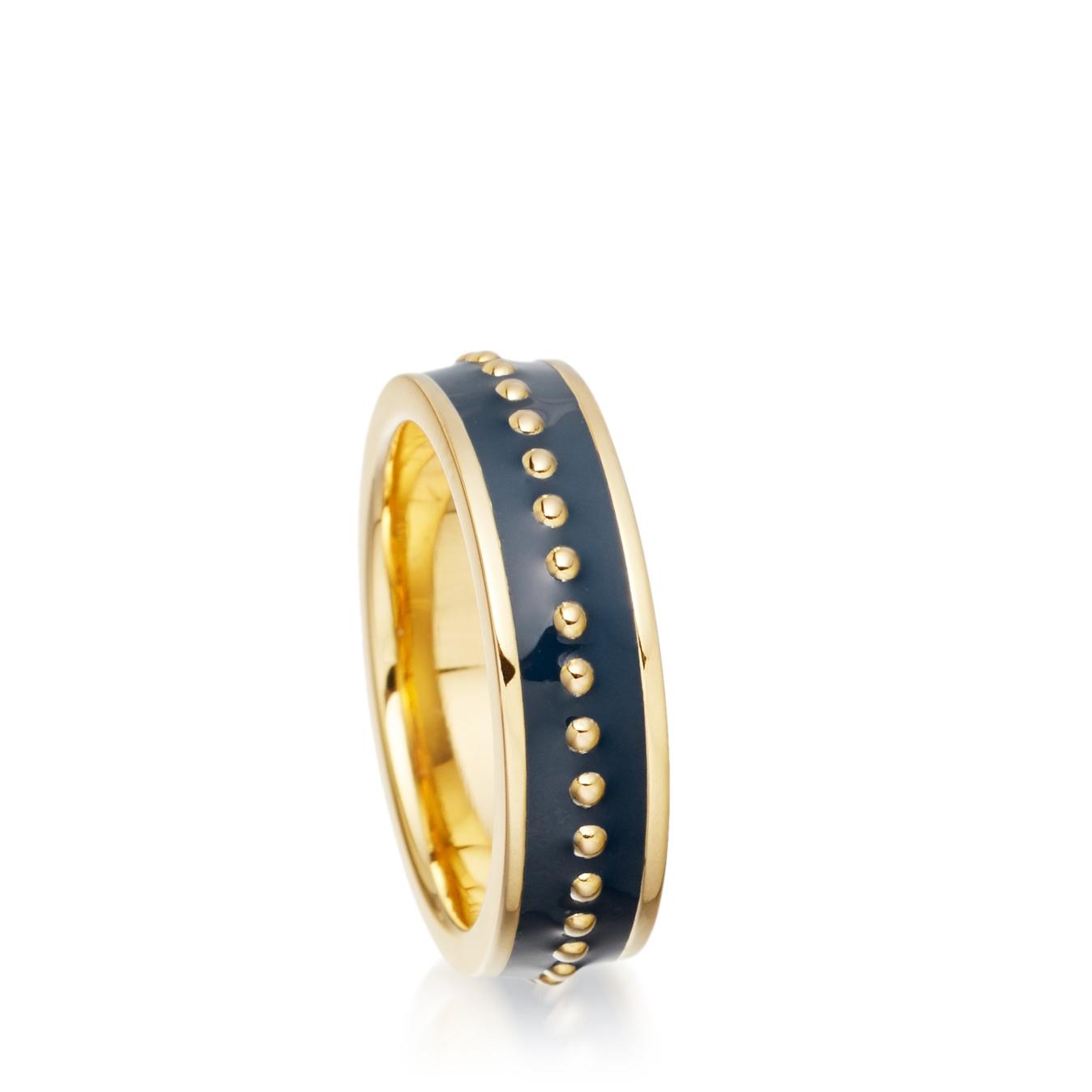 Midnight Beaded Enamel Ring