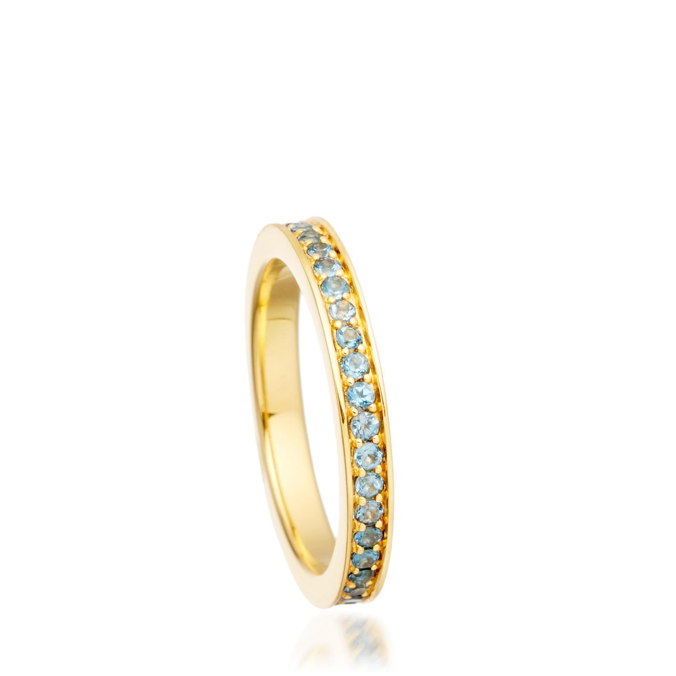 London Blue Topaz Infinity Ring