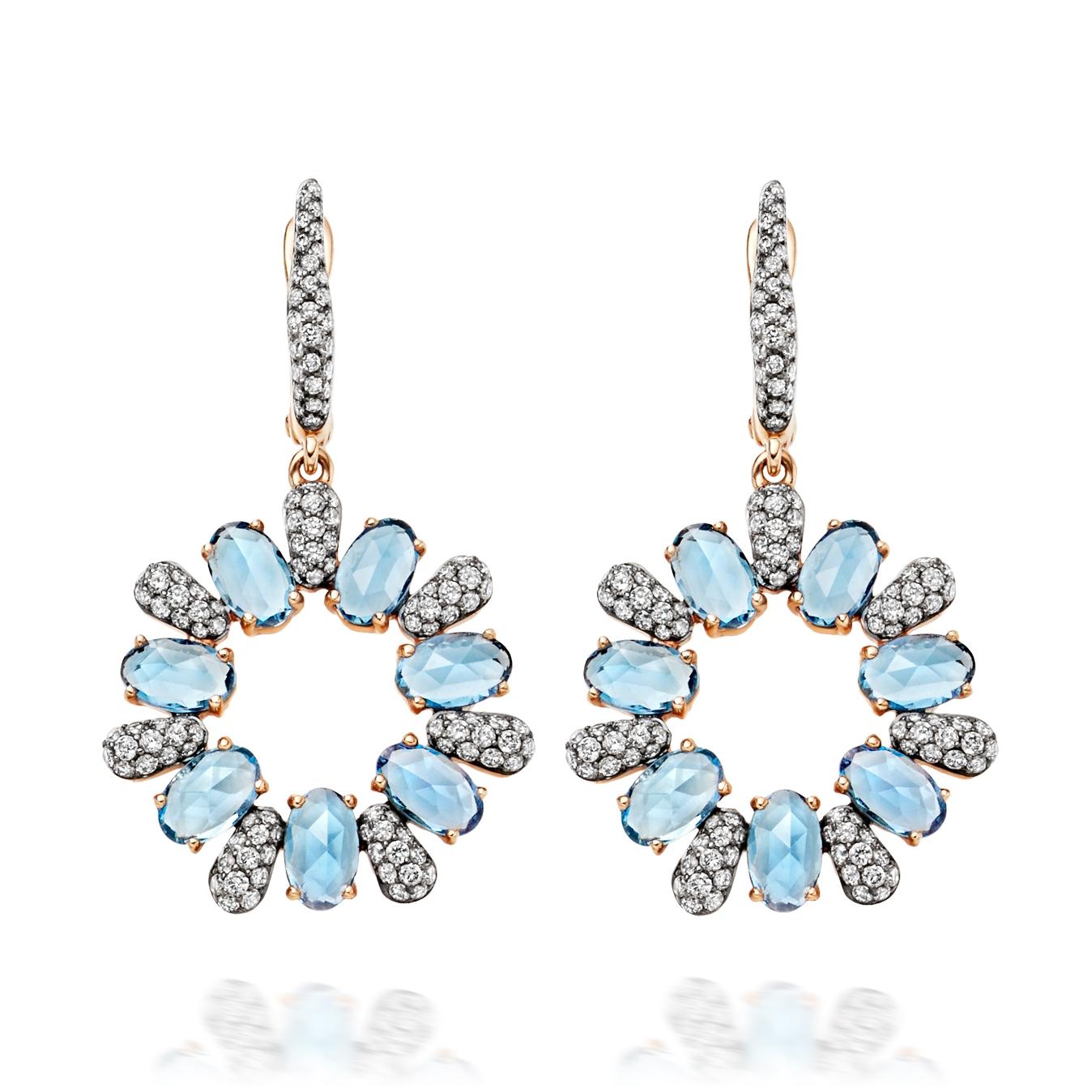 Santa Maria Aquamarine Fao Earrings