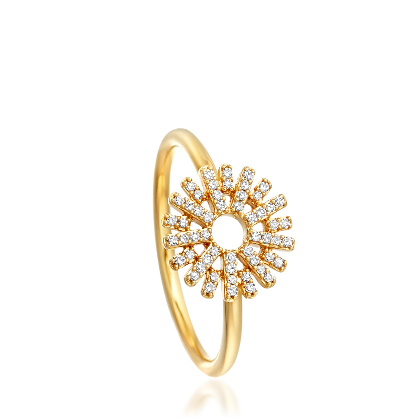 Rising Sun Diamond Ring