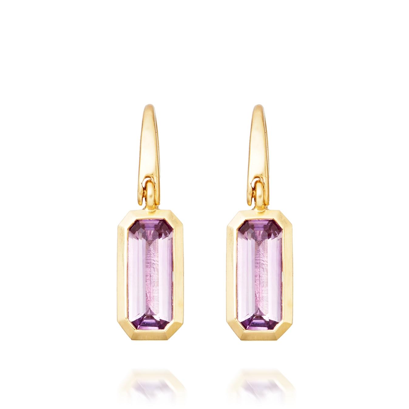 Amethyst Prismic Drop Earrings