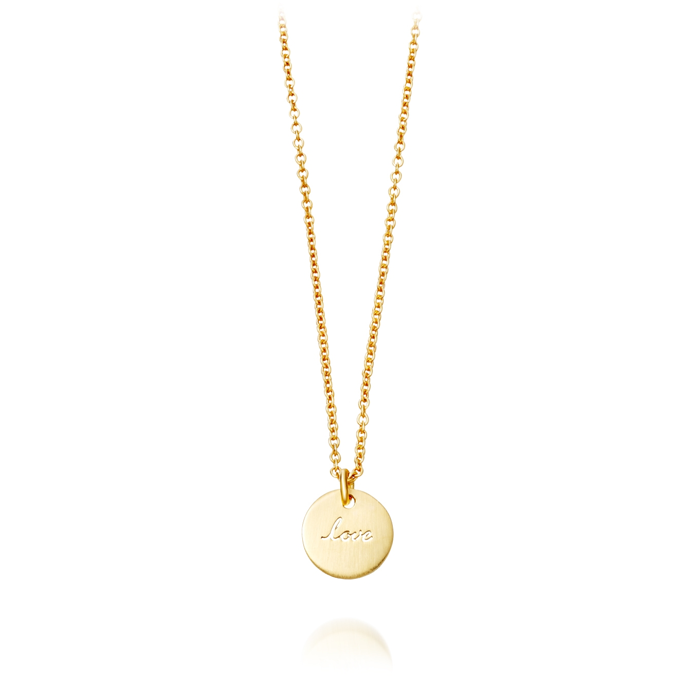 Tiny Love Disc Pendant