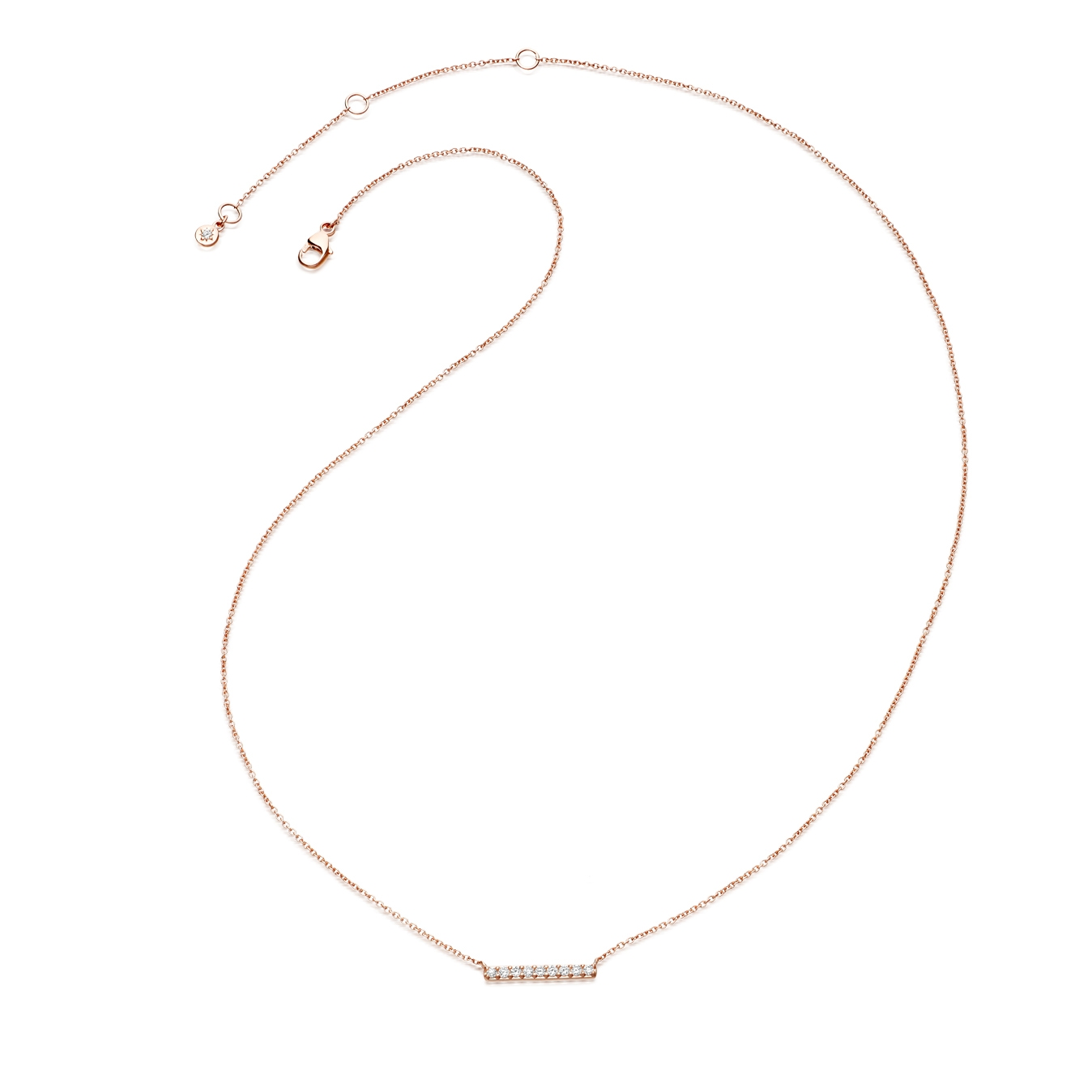 Small Linia Halo Necklace