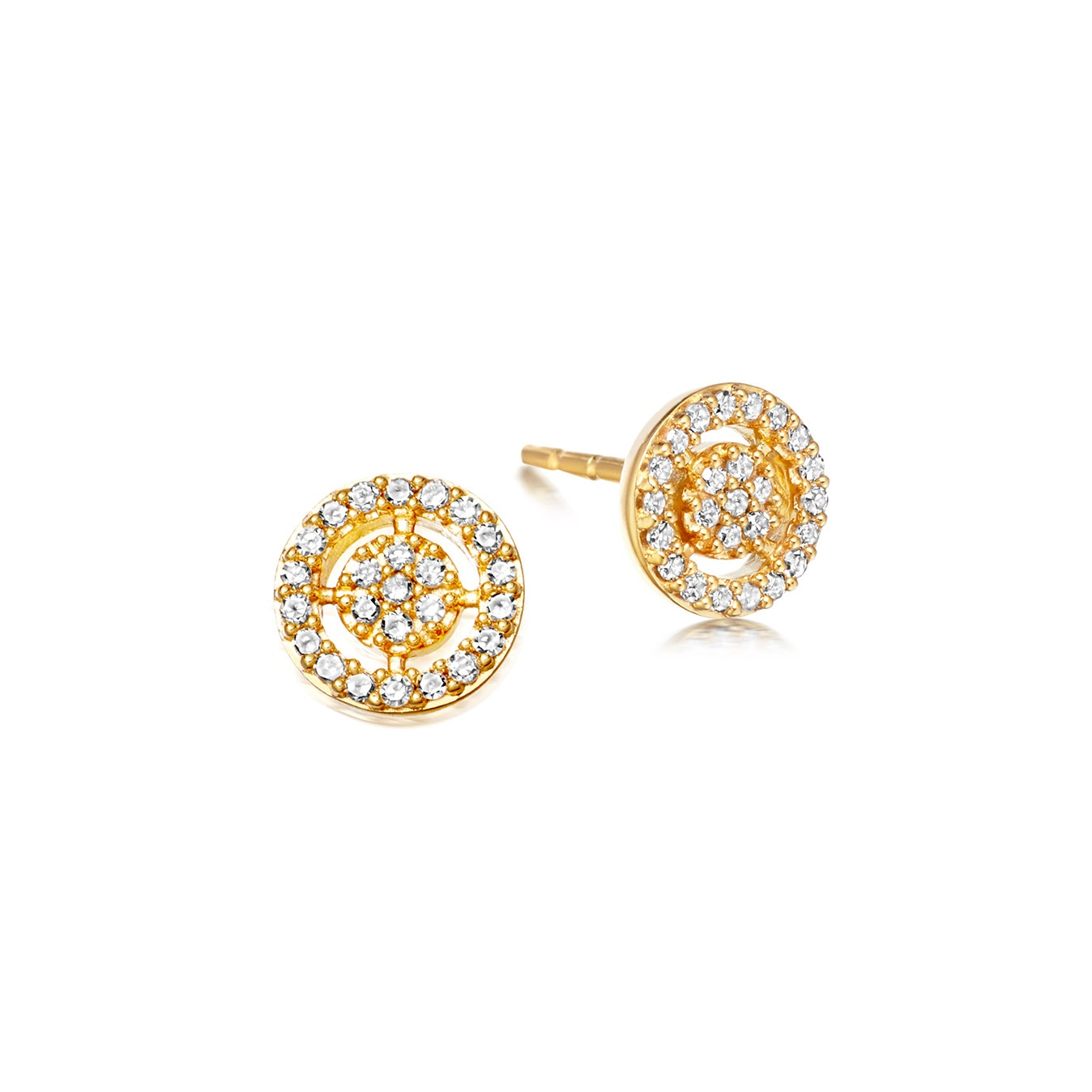 Mini Icon Aura Diamond Stud Earrings