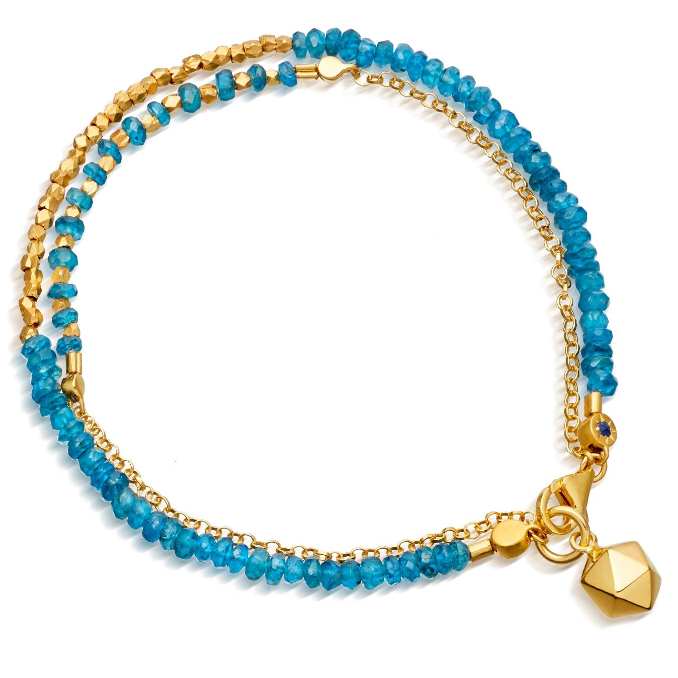 Ocean Quartz Water Element Double Row Biography Bracelet