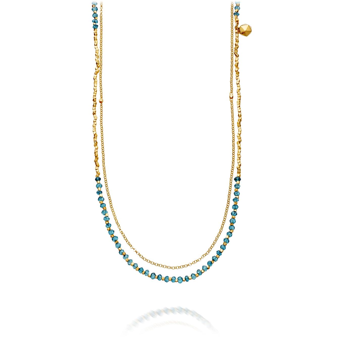 Ocean Quartz Water Element Long Biography Necklace