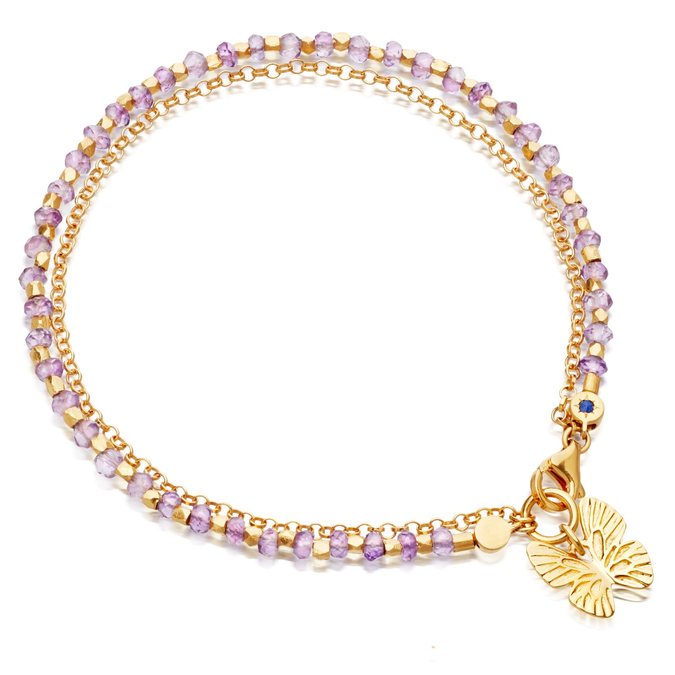Rose de France Butterfly Biography Bracelet