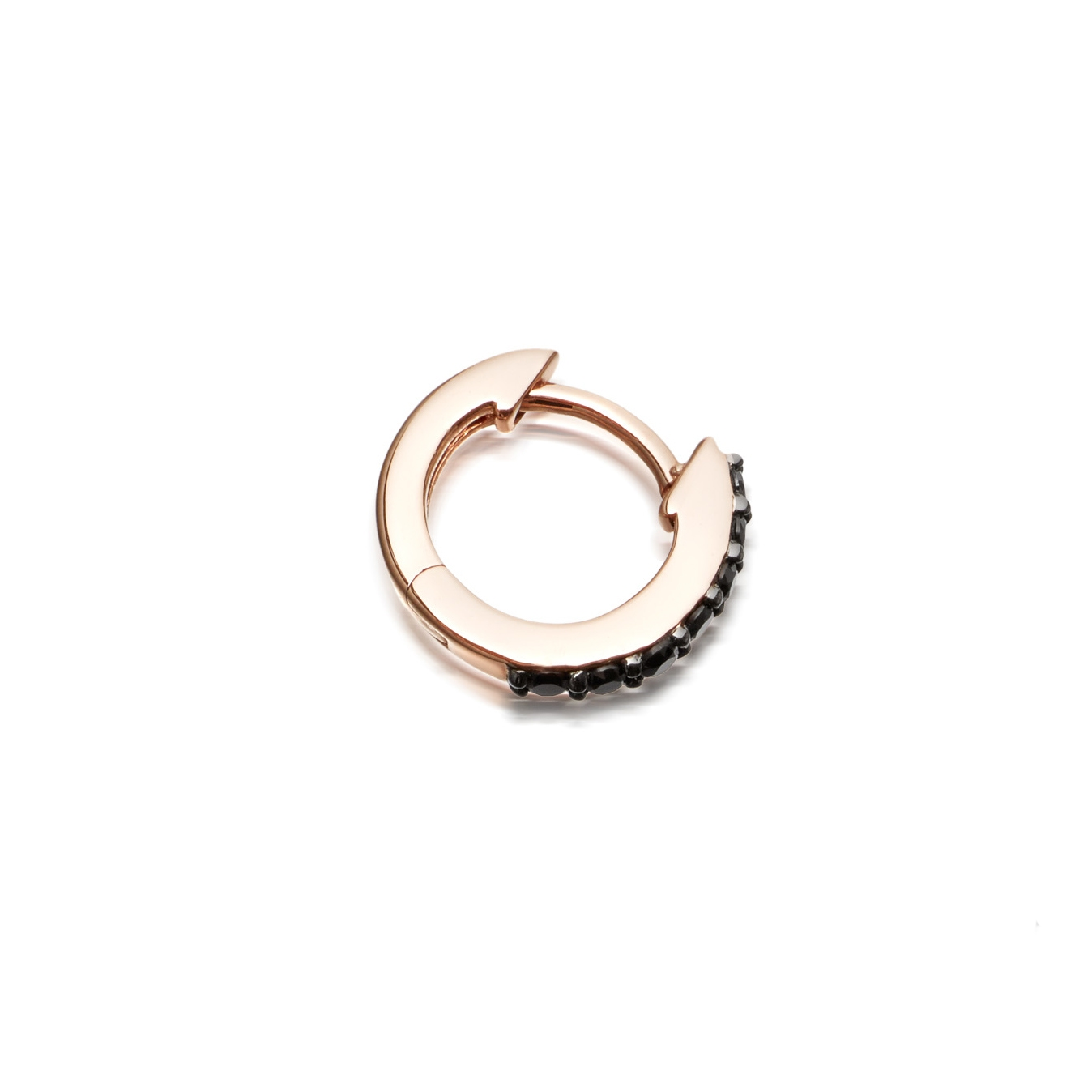Mini Halo Single Hoop Earring