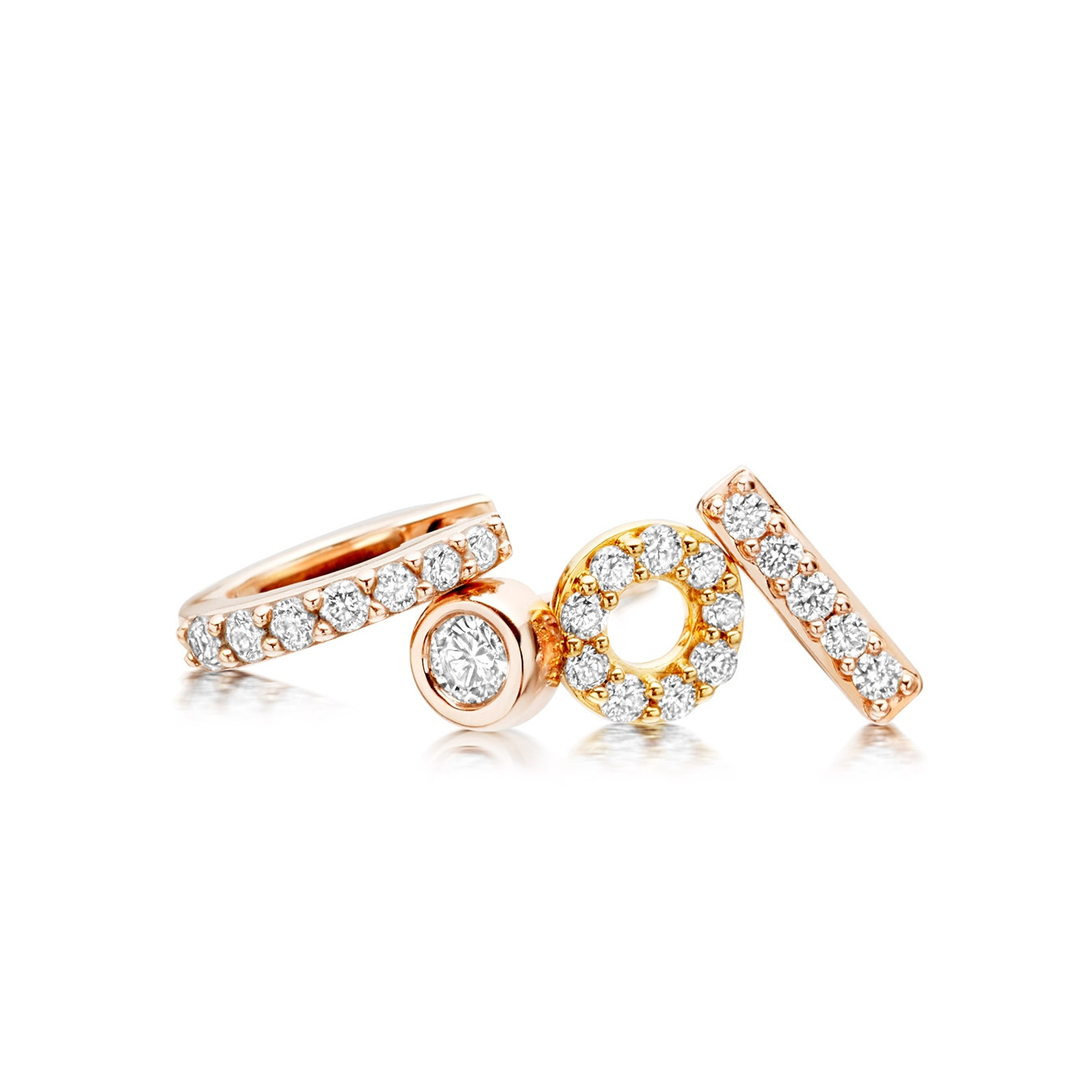 Single Linia Halo Stud Earring