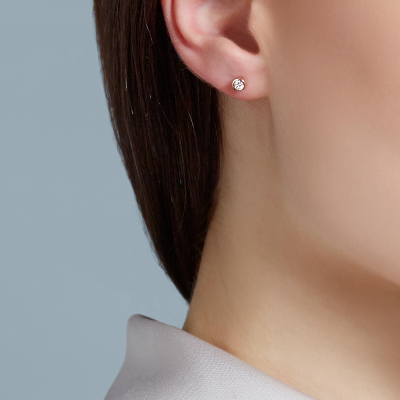 Diamond Halo Dot Earrings