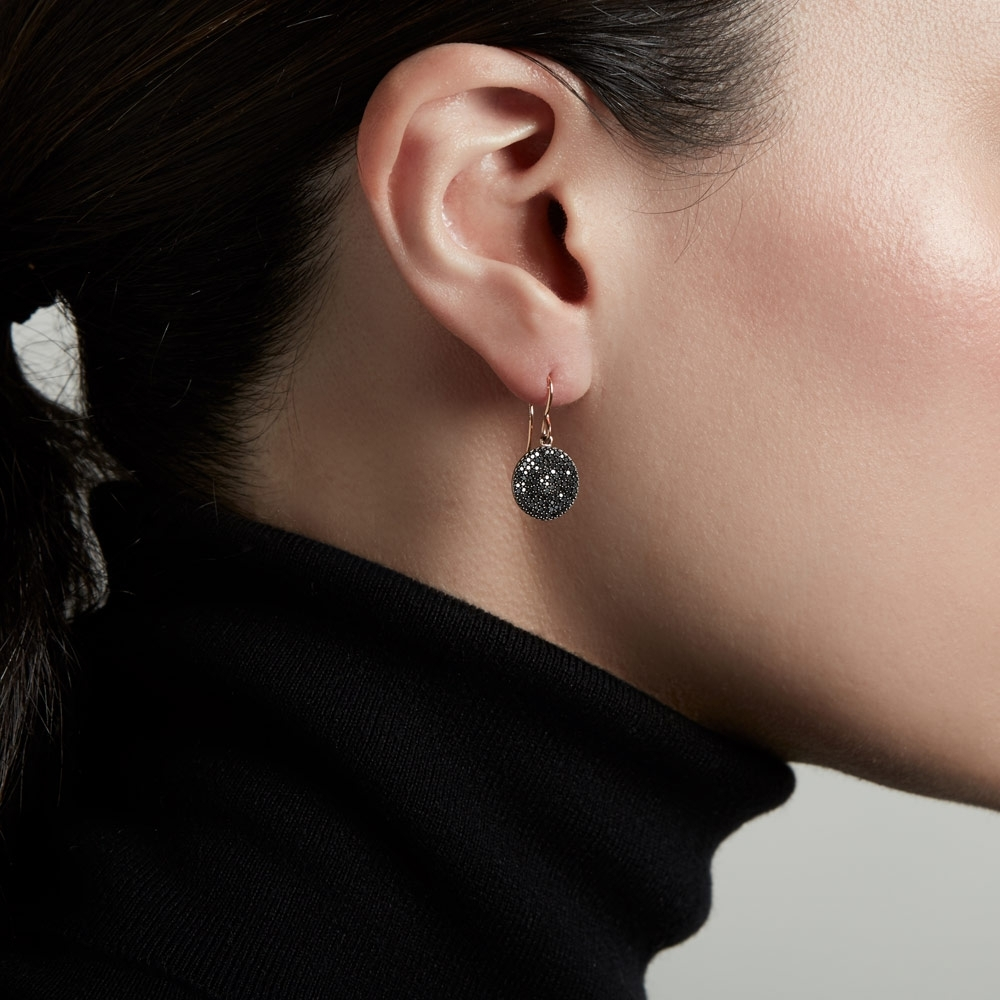 Icon Black Diamond Earrings