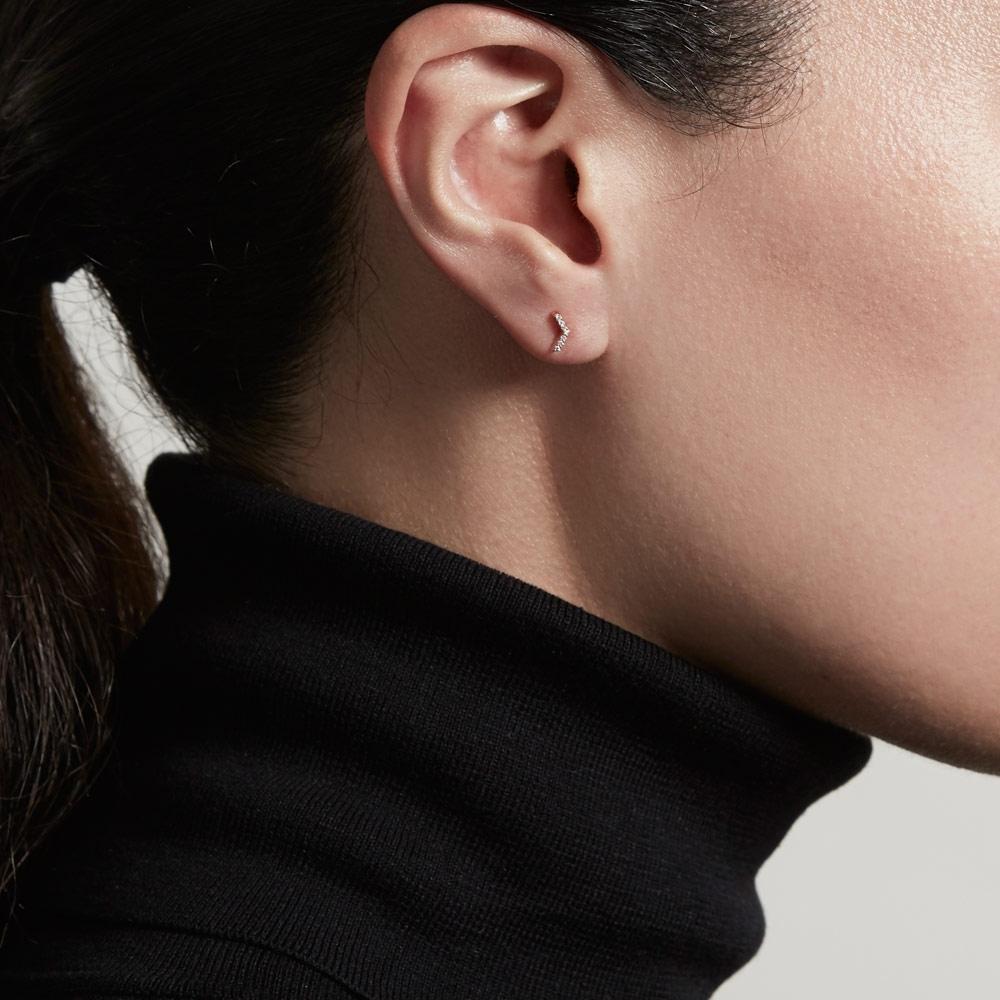 Varro Honeycomb Diamond Stud Earrings