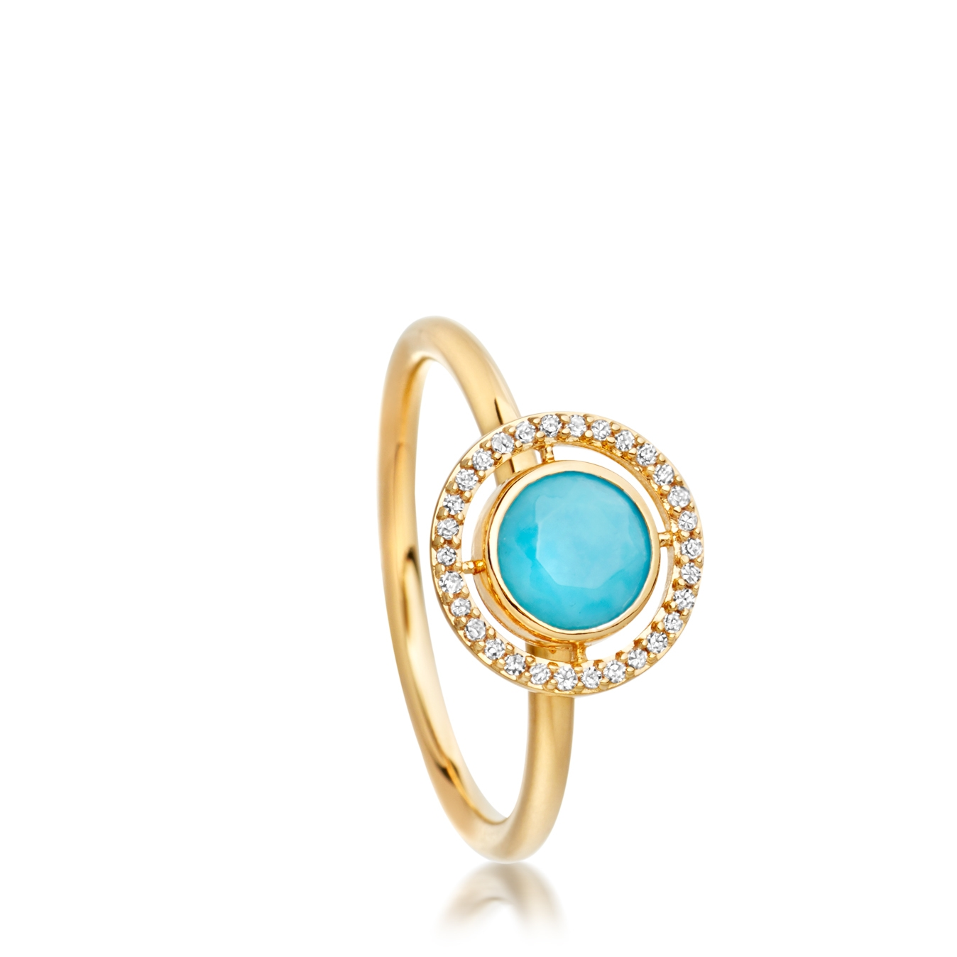 Turquoise Celestial Fine Biography Ring