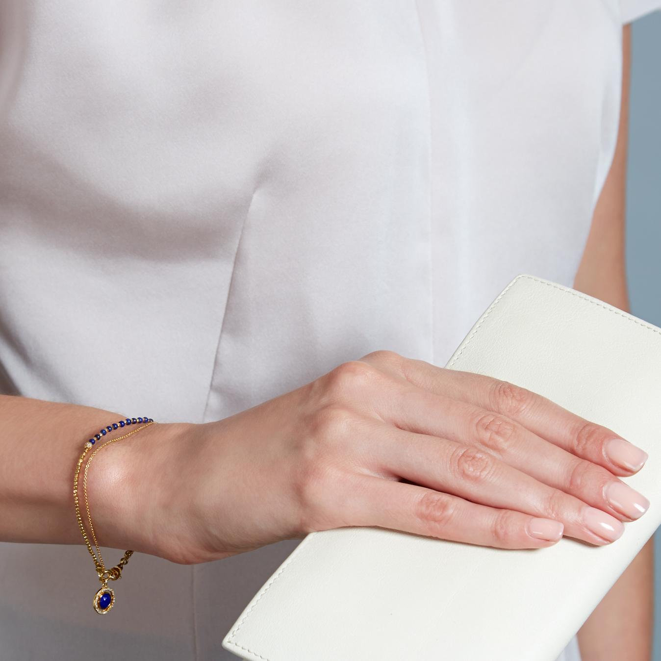 Lapis Celestial Fine Biography Bracelet