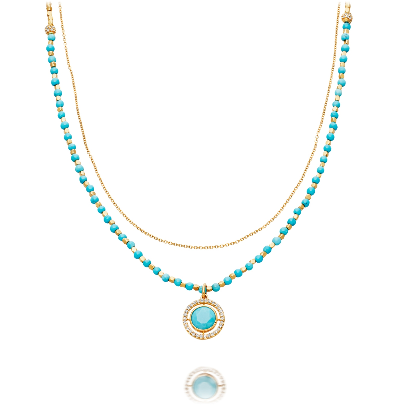 Turquoise Celestial Fine Biography Necklace