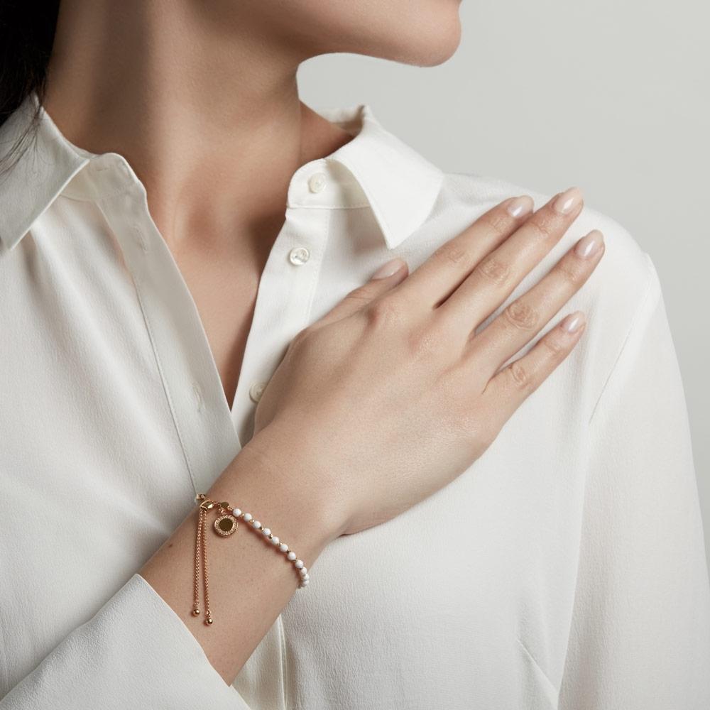 White Agate Cosmos Kula Bracelet