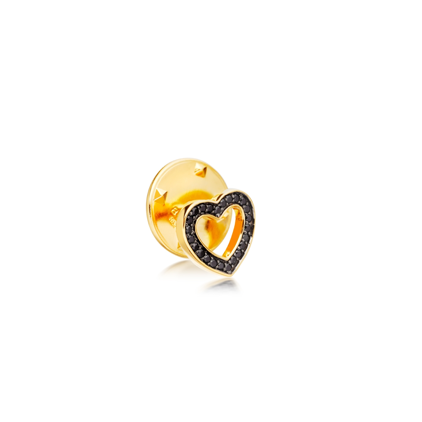 Black Spinel Heart Biography Pin