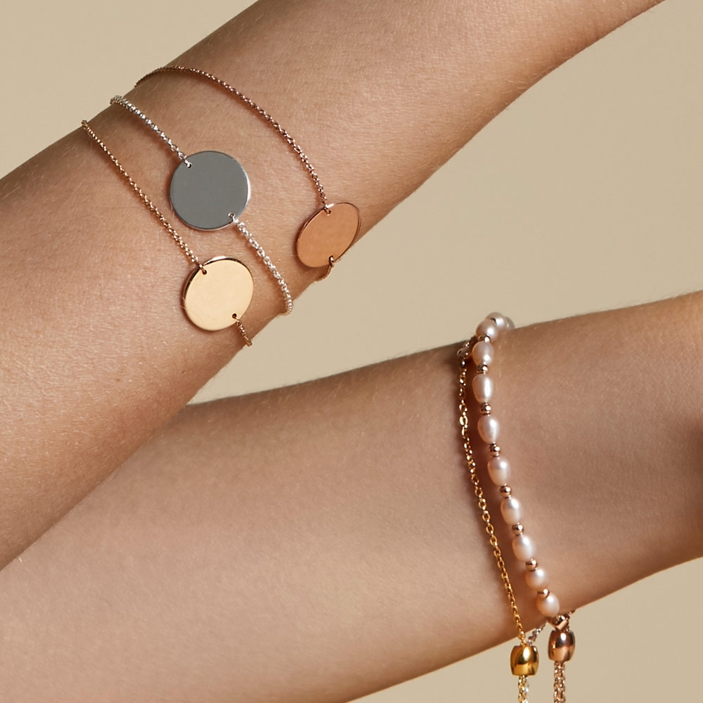 Engravable Disc Bracelet