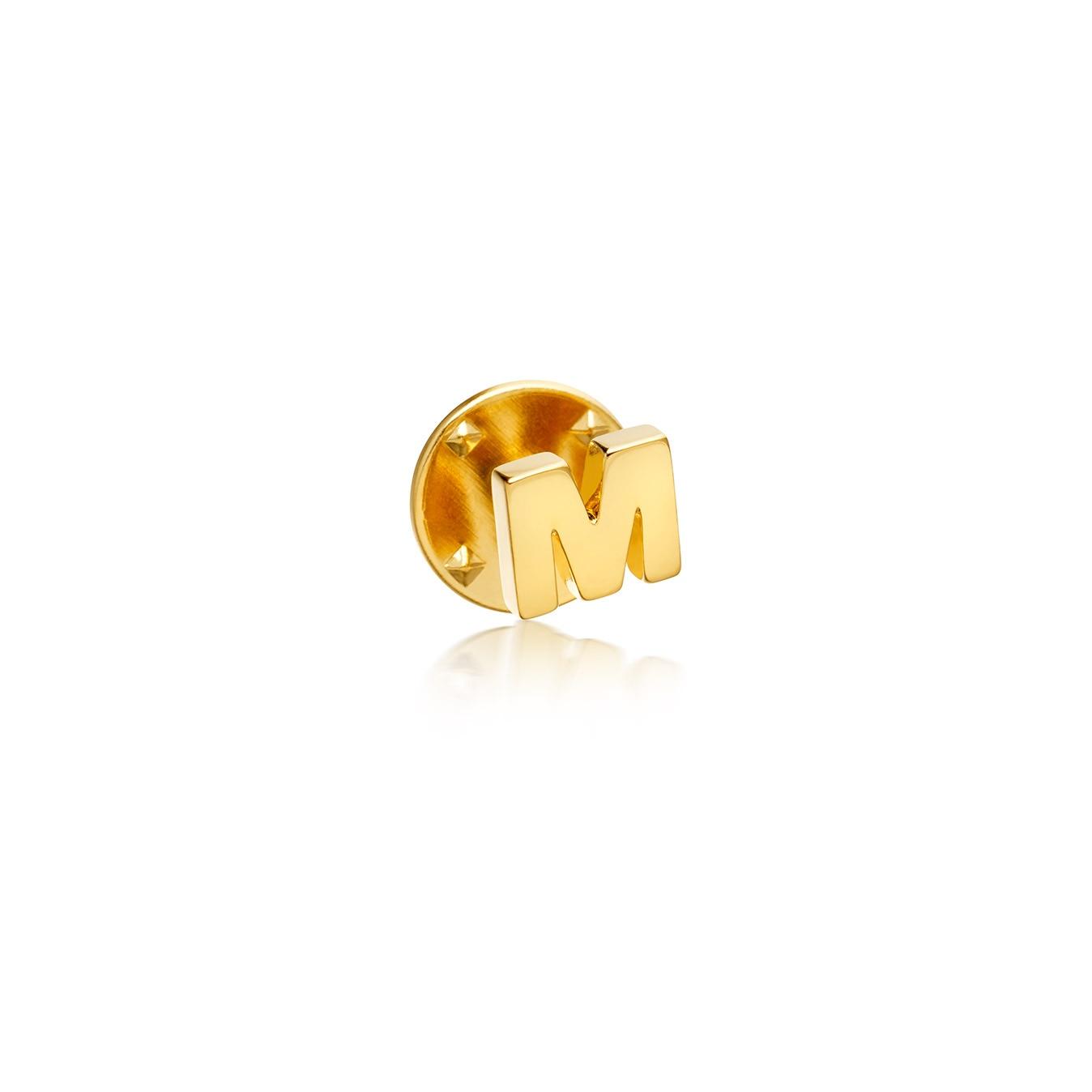 Initial 'M' Biography Pin
