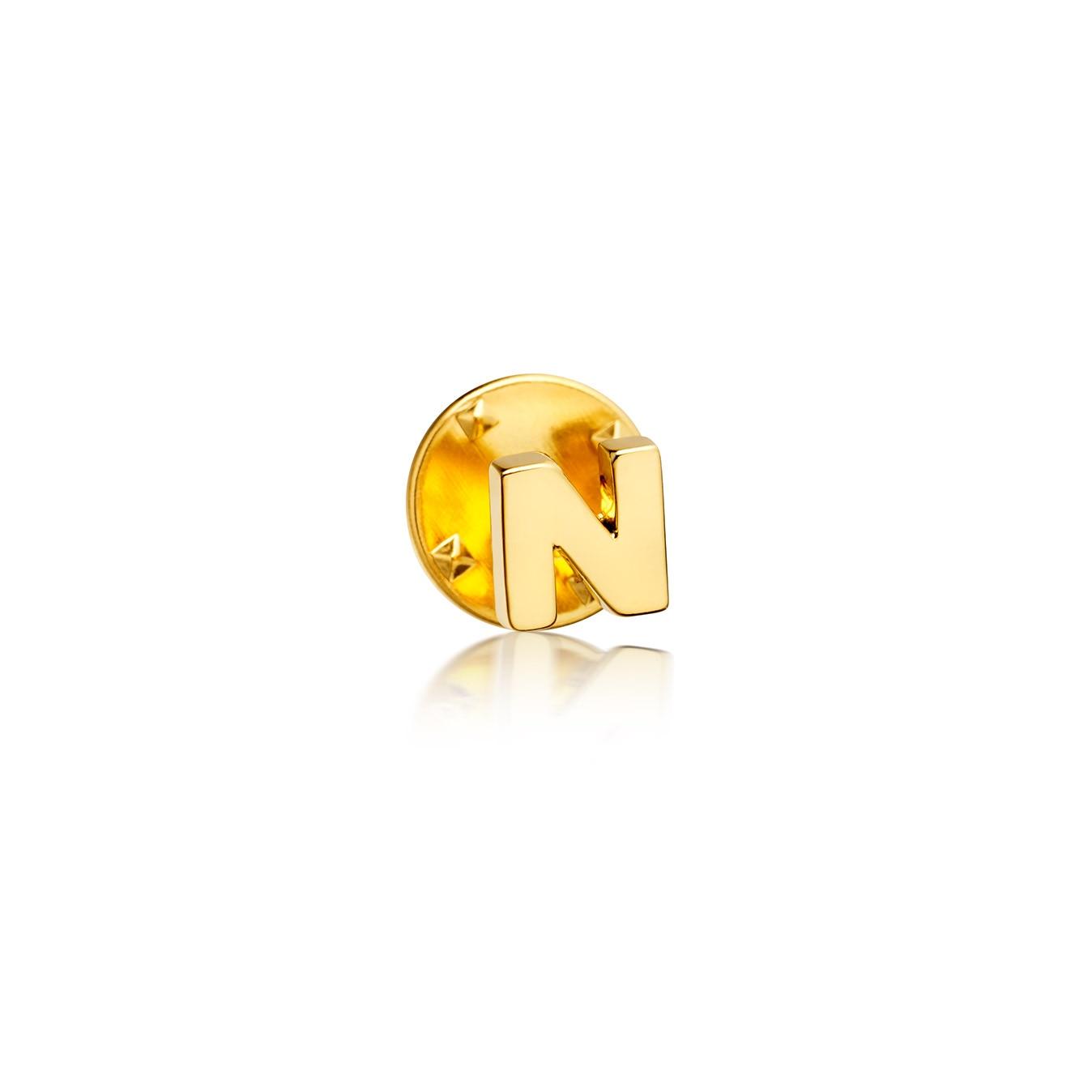 Initial 'N' Biography Pin