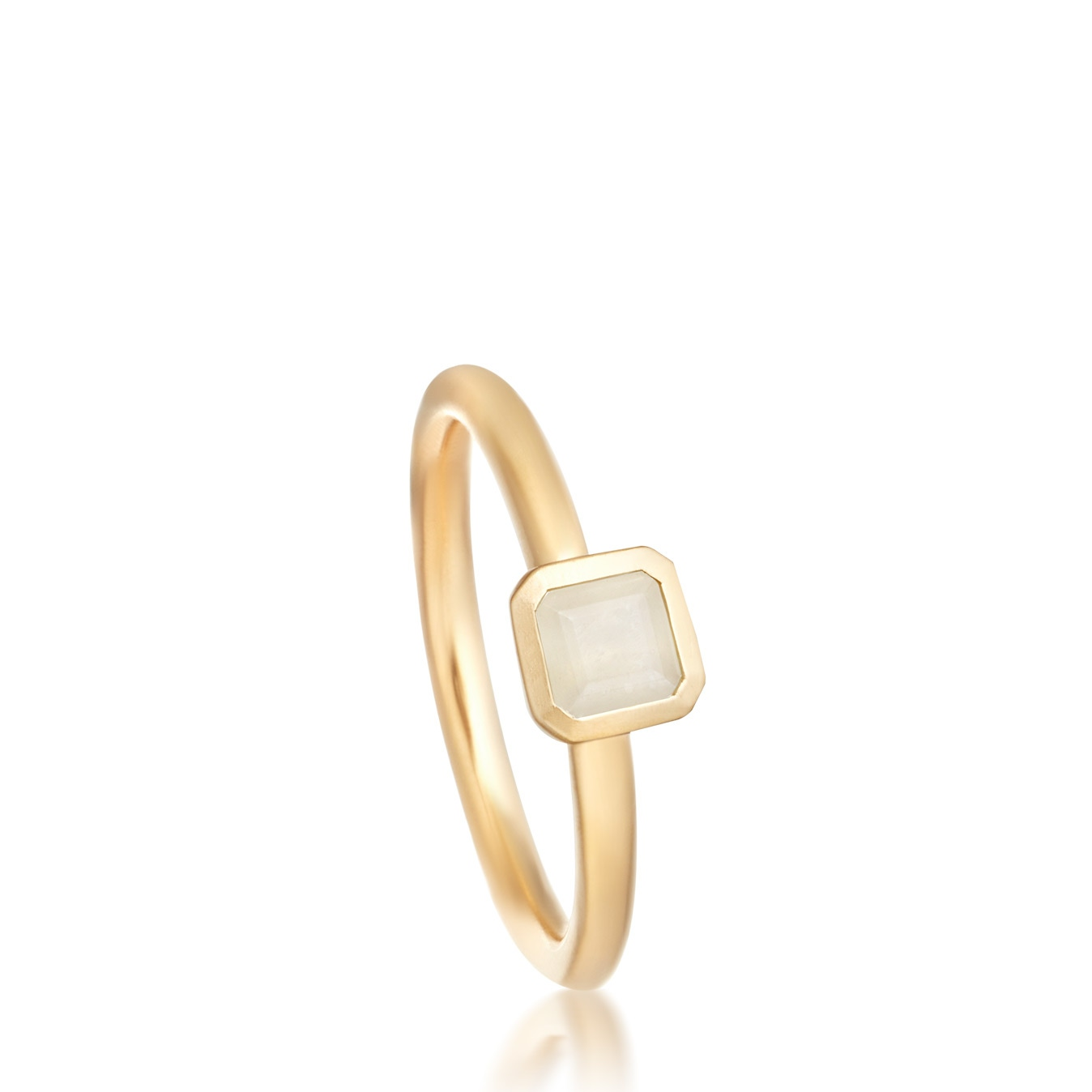 Moonstone Square Prismic Ring