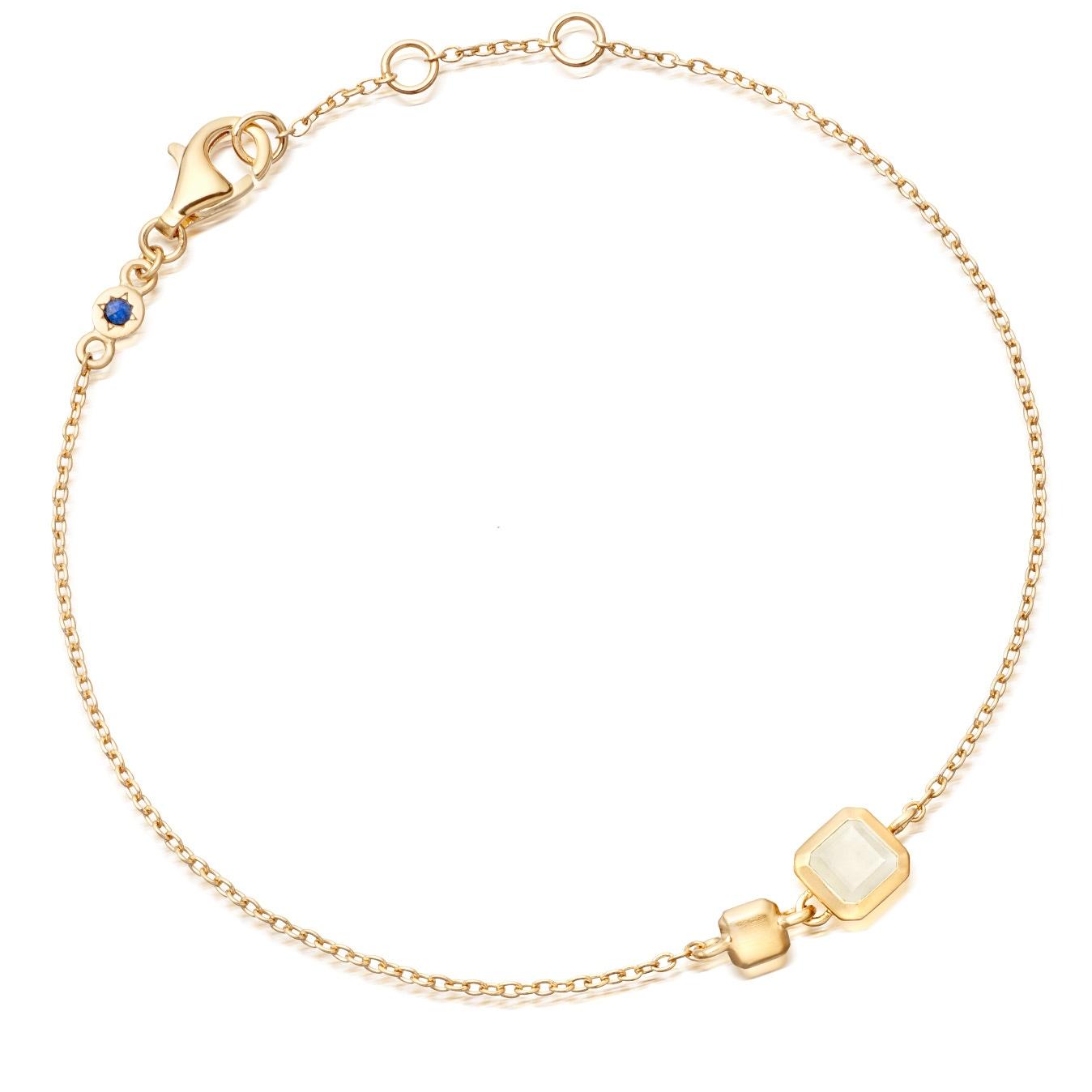 Moonstone Square Prismic Bracelet