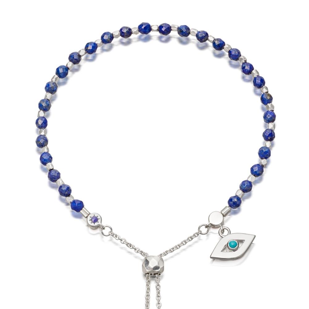 Lapis Evil Eye Kula Bracelet