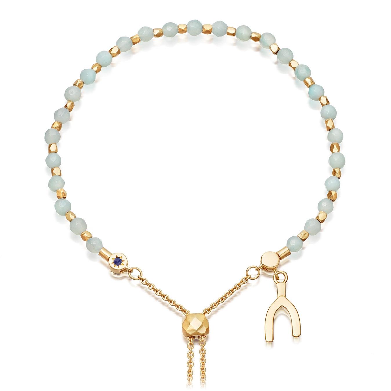 Amazonite Wishbone Kula Bracelet