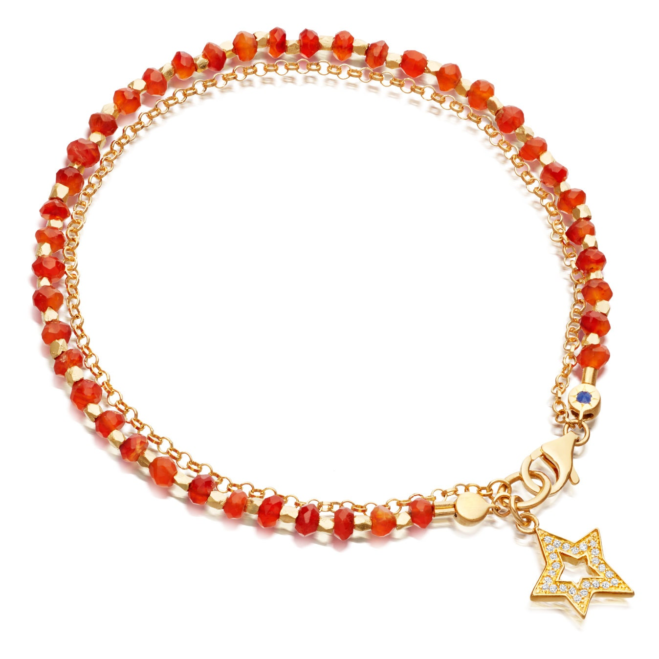 Carnelian Shooting Star Biography Bracelet