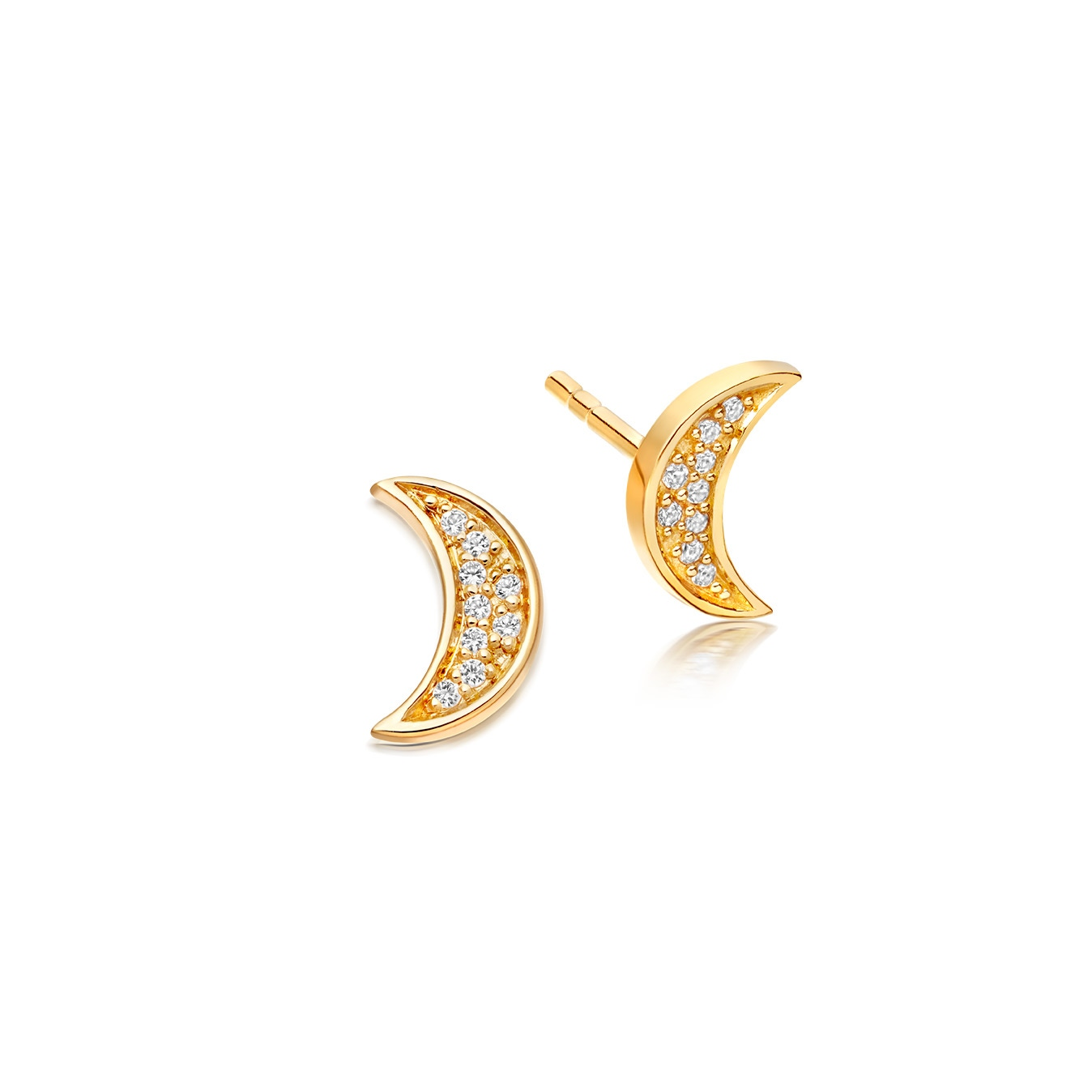 Mini Moon Biography Stud Earrings