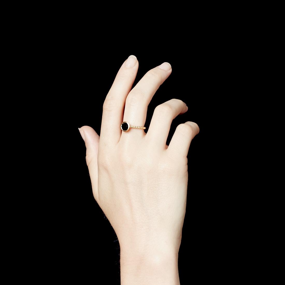 Mini Onyx Beaded Stilla Ring