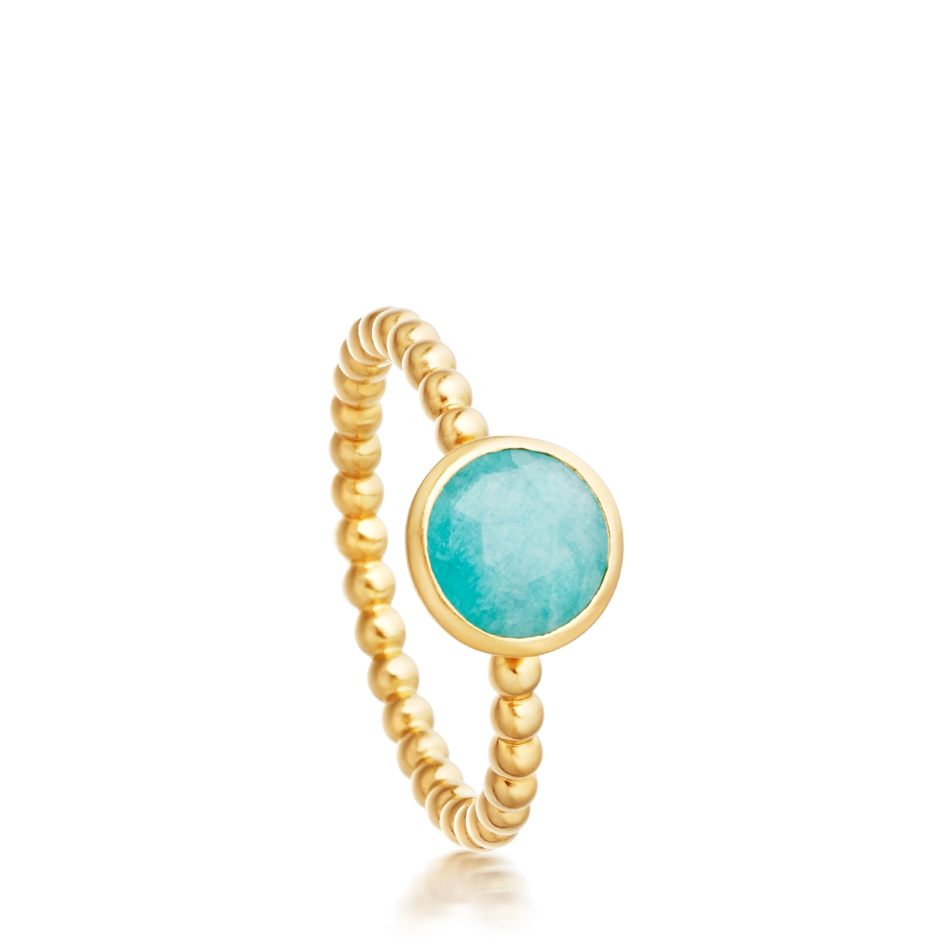 Mini Amazonite Beaded Stilla Ring