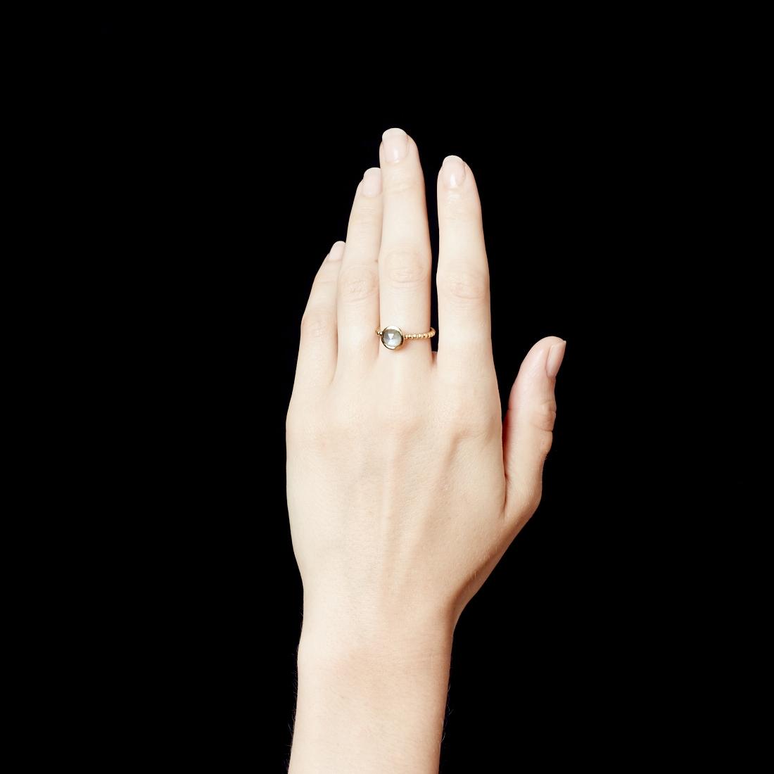 Mini Labradorite Beaded Stilla Ring