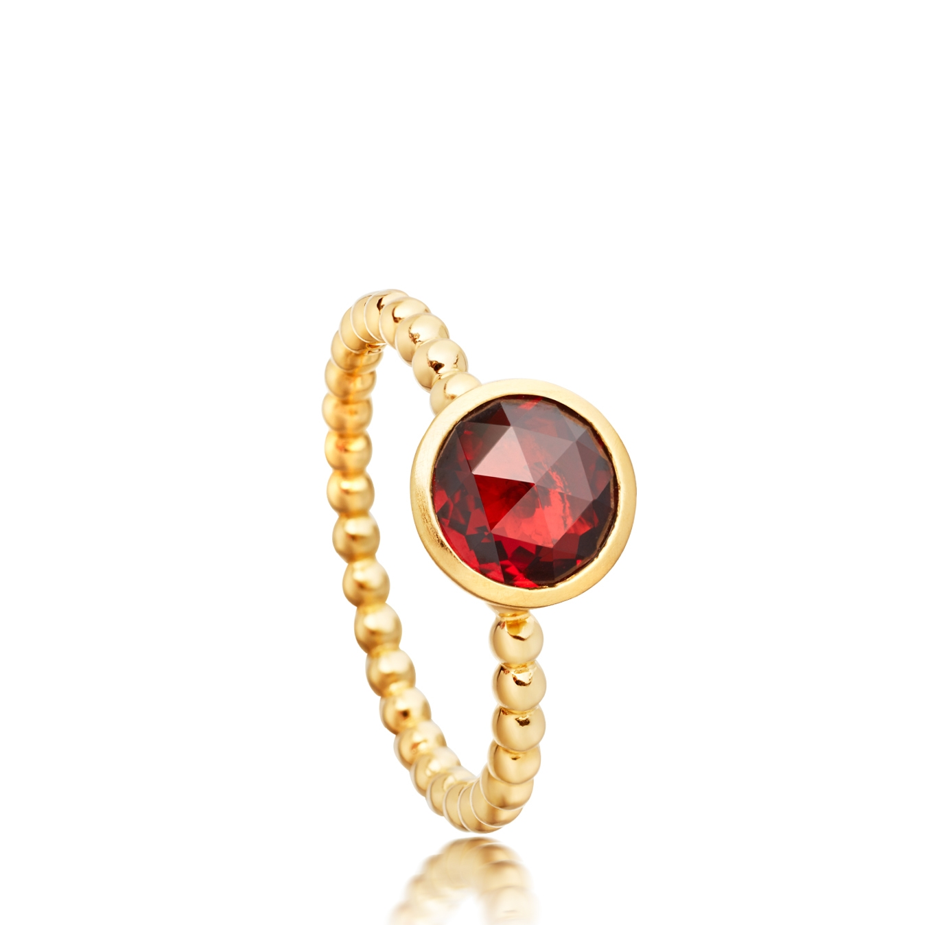Mini Garnet Beaded Stilla Ring