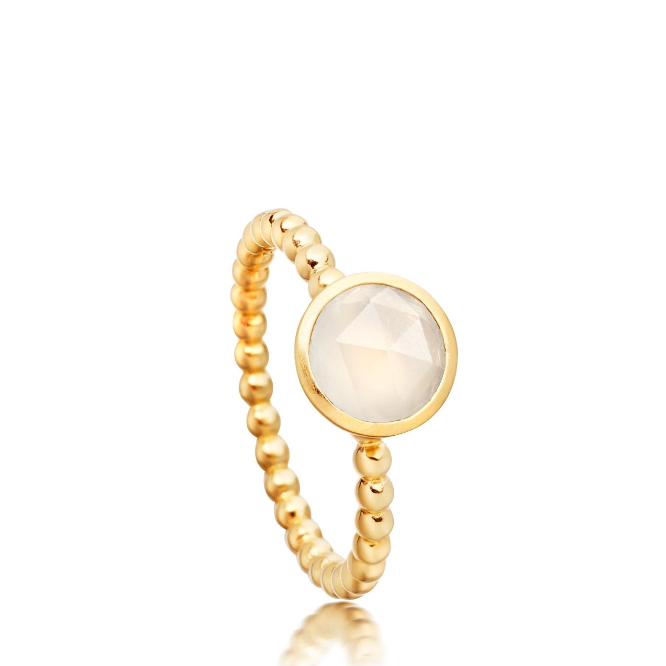 Mini Moonstone Beaded Stilla Ring